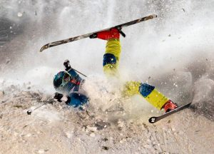 skiing crash